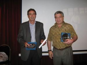 Los Arbitros  Felipe Gracía (5º Dan) y Felipe Oliva(6º Dan)