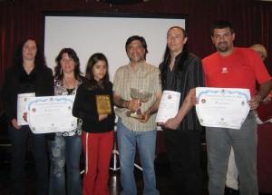 Lorena Tonello,Liliana Escudero,Cinthya Almada,Jorge Juri,Ariel Alvarez y Gustavo Lódola judokas de la Asoc. Regional Atlántica de Judo .