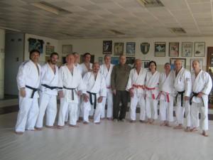 El Mtro.9º Dan Juan Carlos Zanga con los Mtros.Dictantes y algunos Profesores que participaron en el Seminario Nacional.