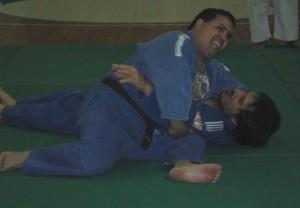 Miguel Salinas (No Vidente) y Mario Arrupe (Discapacitado Motriz) en plena exhibición.