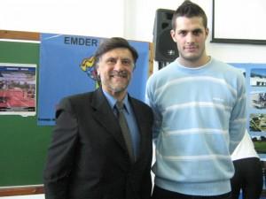 El Profesor Jorge Juri y Franco Marini en el EMDeR.