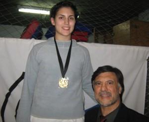 Amanda Bredeston de Club Italiano (CABA) campeona en Junior,Kyu Graduado y Senior -63Kg.