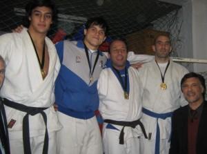 Podio Senior - 81 Kg.:M. La Torre(2º), Luis Vega (1º), J.Hernando (3º) y A. Ramírez (3º)
