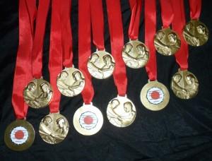 Medallas Categoría Escuelita y Categorías Oficiales.