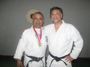 Los Profesores Daniel Cárdenas y Jorge Juri en el Dojo de Luz y Fuerza-Academias Juri