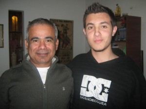 Daniel Cárdenas y Kevin Juri .
