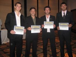 Matías Etchechury(Judo),Jorge Juri (Judo),Pablo Romano (TKD) y Carlos Bazán (TKD).