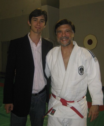 Pablo Nivio  con su maestro.