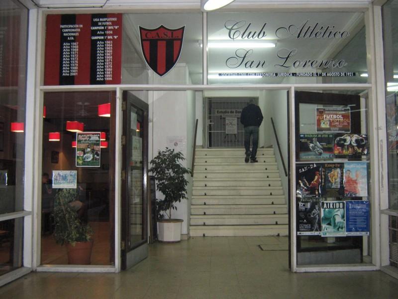 Entrada del Club San Lorenzo de Mar del Plata