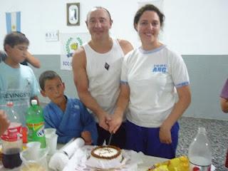 Los Profesores Ariel Alvarez y Lorena Tonello en el Lunch del 6º Aniversario de Dojo Bushido.