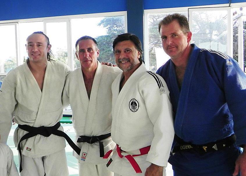 Ariel Alvarez, Enrique Santoro, Jorge Juri y Leonardo Etchechury en Dojo Takeshi.