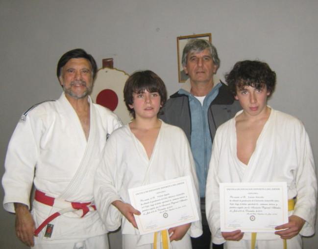 Mtro.Jorge Juri , Vìctor Ayala, Prof. Jorge Regatuzzo y Lucas Zoccola.