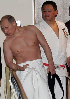 Vladimir Putin con Y. Yamashita.