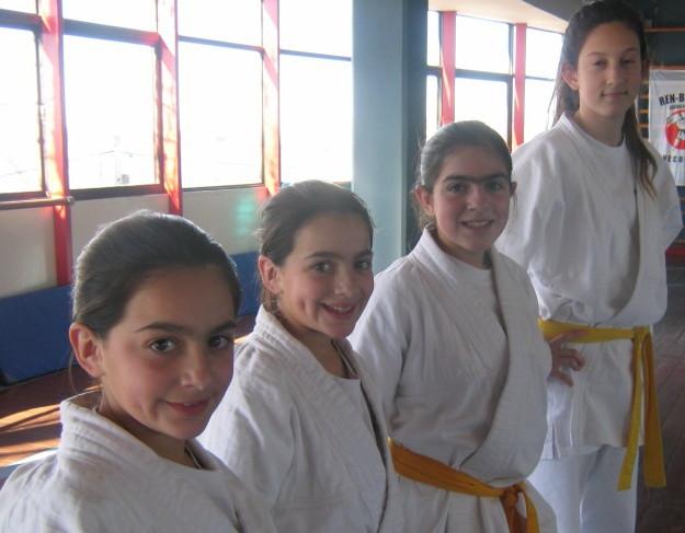 Jesica,Jaqueline,Estrella y Estefanía ,el Judo femenino presente