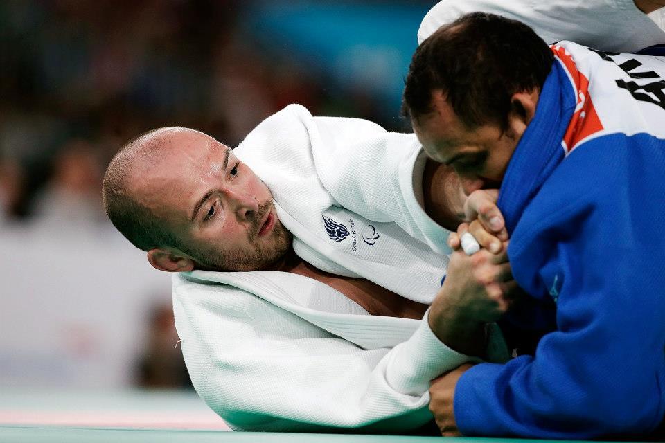 Samuel  y Jorge Lencina en la semifinal - 90 Kg