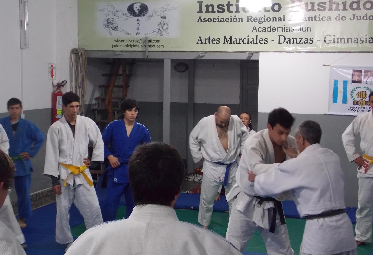 El Profesor Dario Herrera  explicando una tècnica.