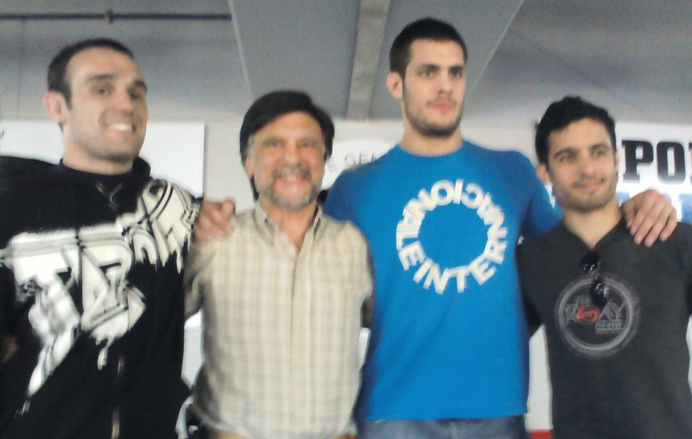 Javier Verea, Jorge Juri , Franco Marini y Laureano Losciale en la entrega de Becas