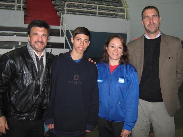 Jorge Juri,Marcio Liberatore, Nora Vega y Gustavo Svane.