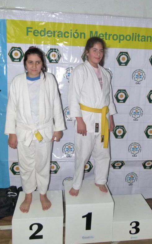 Infantil A Fem.-52 Kg Medina Natasha (2ª), Victoria Delvecchio (1ª)