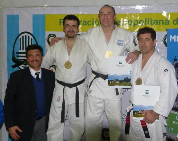 Podio Master 3 - 81 kg A.Lobos (2º), Ariel Alvarez(1º) D.Arregui (3º)