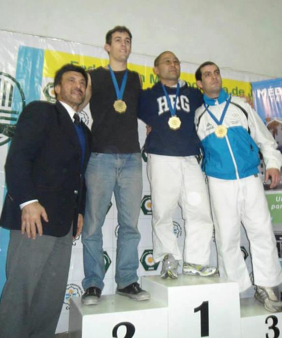 Cat.Seniors -66kg. M.Ghioldi (2º),H.Maemori (1º) y D.Gonzàlez (3º)