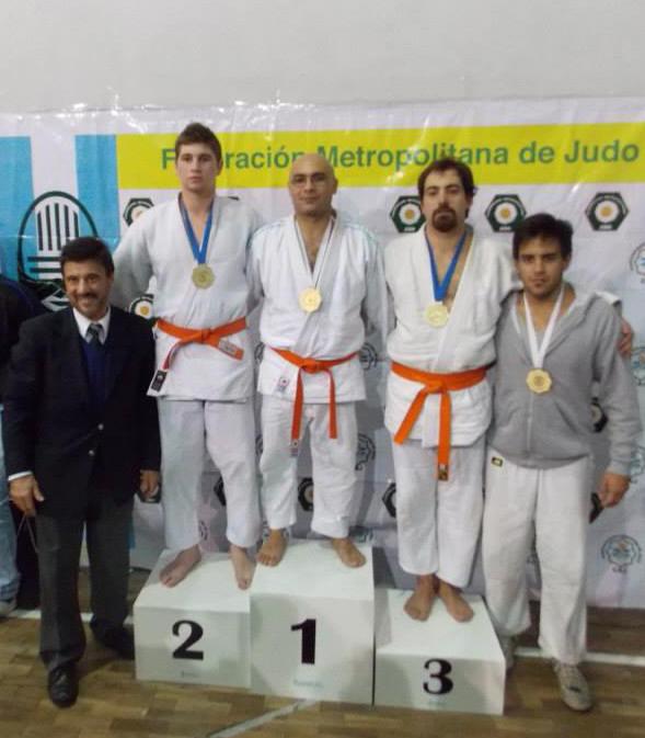 Cat.Kyu Novicios -81kg B.Kren(2º), C.Parra (1º),C.Pallini (3º) y  F.Ayala (3º)
