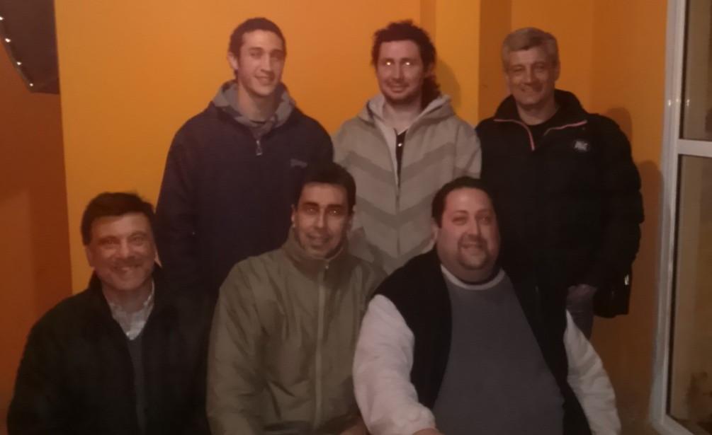 L.Loruso , O.Mingrino , Omar Merodio, (Sentados): J.Juri,  Rojas y D. Chasnovsky