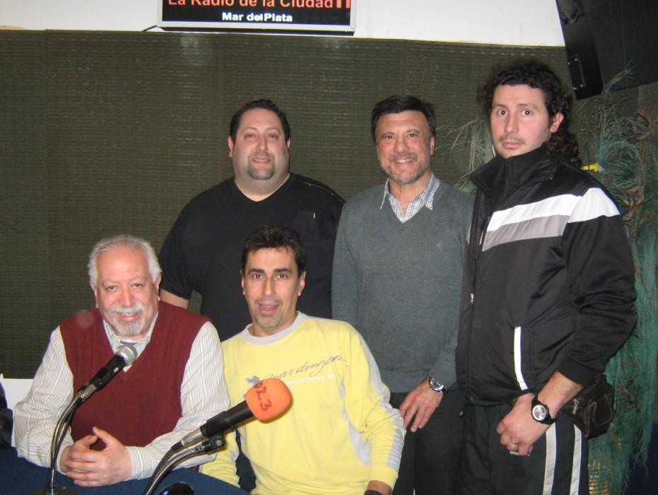 David Chasnovsky,Jorge Juri, Omar Mingrino,Luis Lapenta y Marcelo Rojas en el Programa Nro. 500 de  Tribunal Deportivo.