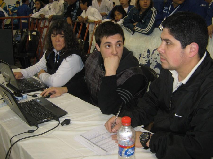 Competencia de Judo: Liliana Escudero Lee,Kevin Juri y Javier Martín.