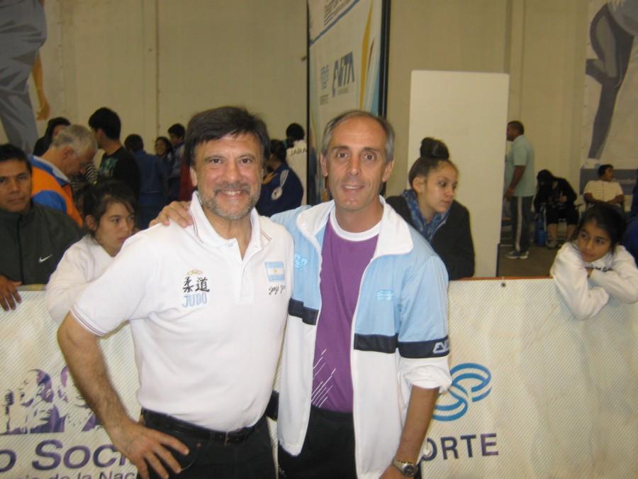 El Maestro Jorge Juri con el Secretario de Deportes de la Nación Claudio Morresi.
