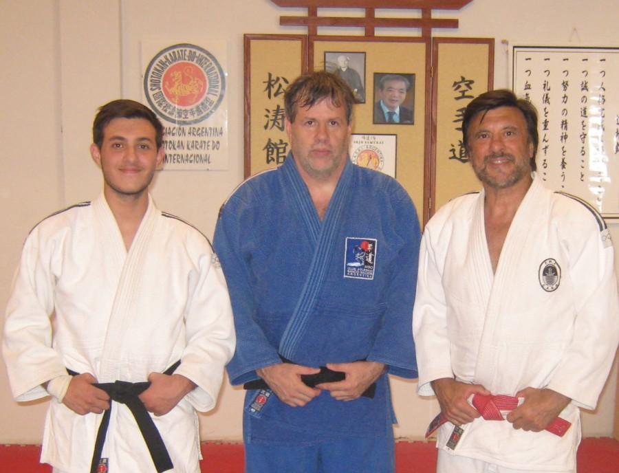 Kevin Juri, Gustavo Valle y Jorge Juri .