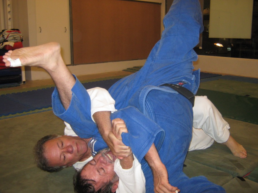Oscar Strático con Gustavo Valle en Plena actividad.