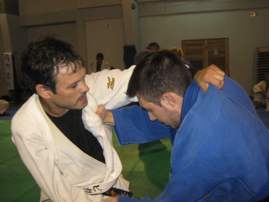 Gustavo Picate y Kevin Juri, en pleno entrenamiento
