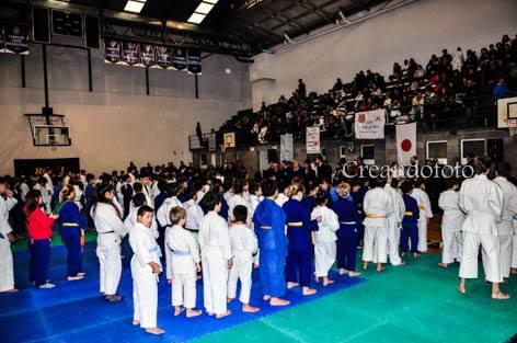 Judokas Formados durante la Inauguración del Campeonato Sur de la República 3ª edición.