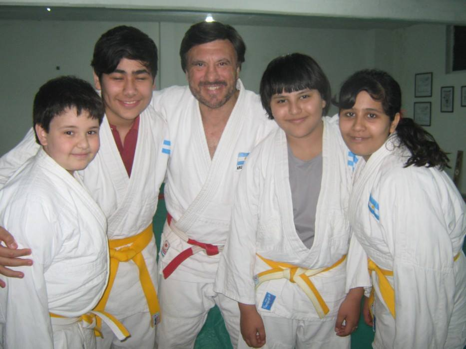 Agustín Peralta, Joel Acquafredda , Jorge Juri , Mijael Cirelli y Sahiel Acquafredda