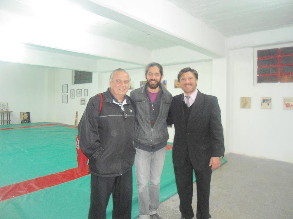 Mtro.Marcelo Beltramino (Karate) , Prof.Maximiliano Vincens(Karate )  y Mtro. Jorge Juri (Judo)