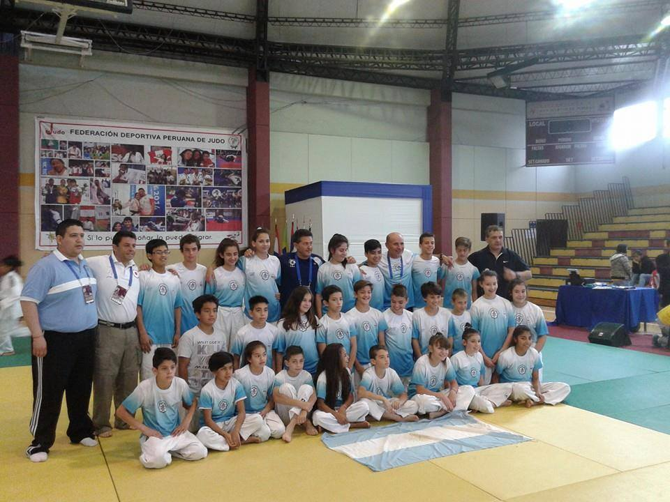 Judokas  Argentinos que participaron  en  la Copa Sudamericana   2014 Sub 13 y Sub 15 en Perú.