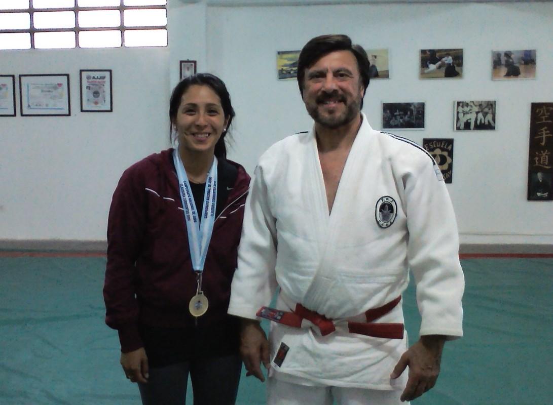 Sabrina Yamaguchi con el Maestro Jorge Juri.