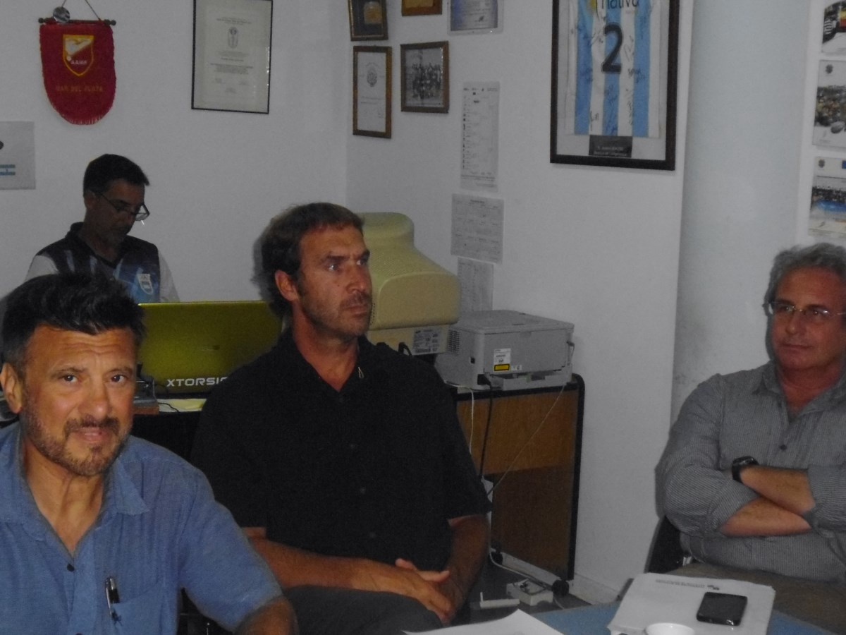 Los integrantes del Consejo Asesor del EMDeR Jorge Juri, Gustavo Svane y  Daniel Massaro .