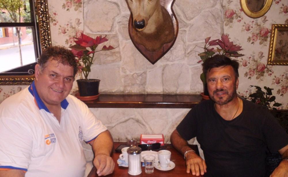 Jorge Centurión y Jorge Juri   dos referentes de la Lucha Olímpica.