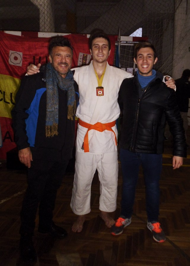 El Maestro Jorge Juri, Pablo Diez y el Profesor Kevin Juri.