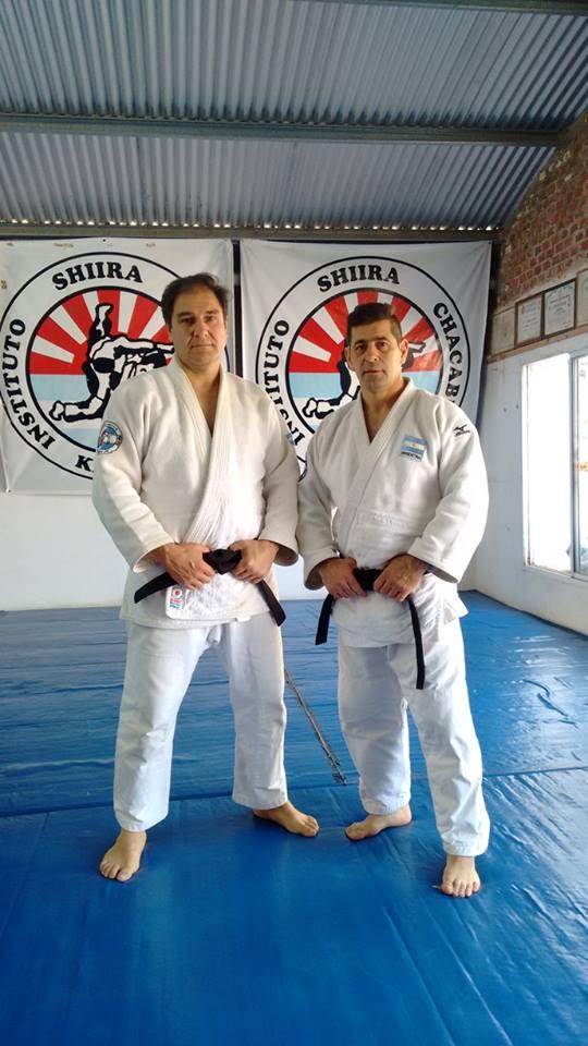 Eduardo Pereyra Medalla de Bronce M4 -90 kg . y Daniel Arregui  en entrenamiento el día previo a la competencia