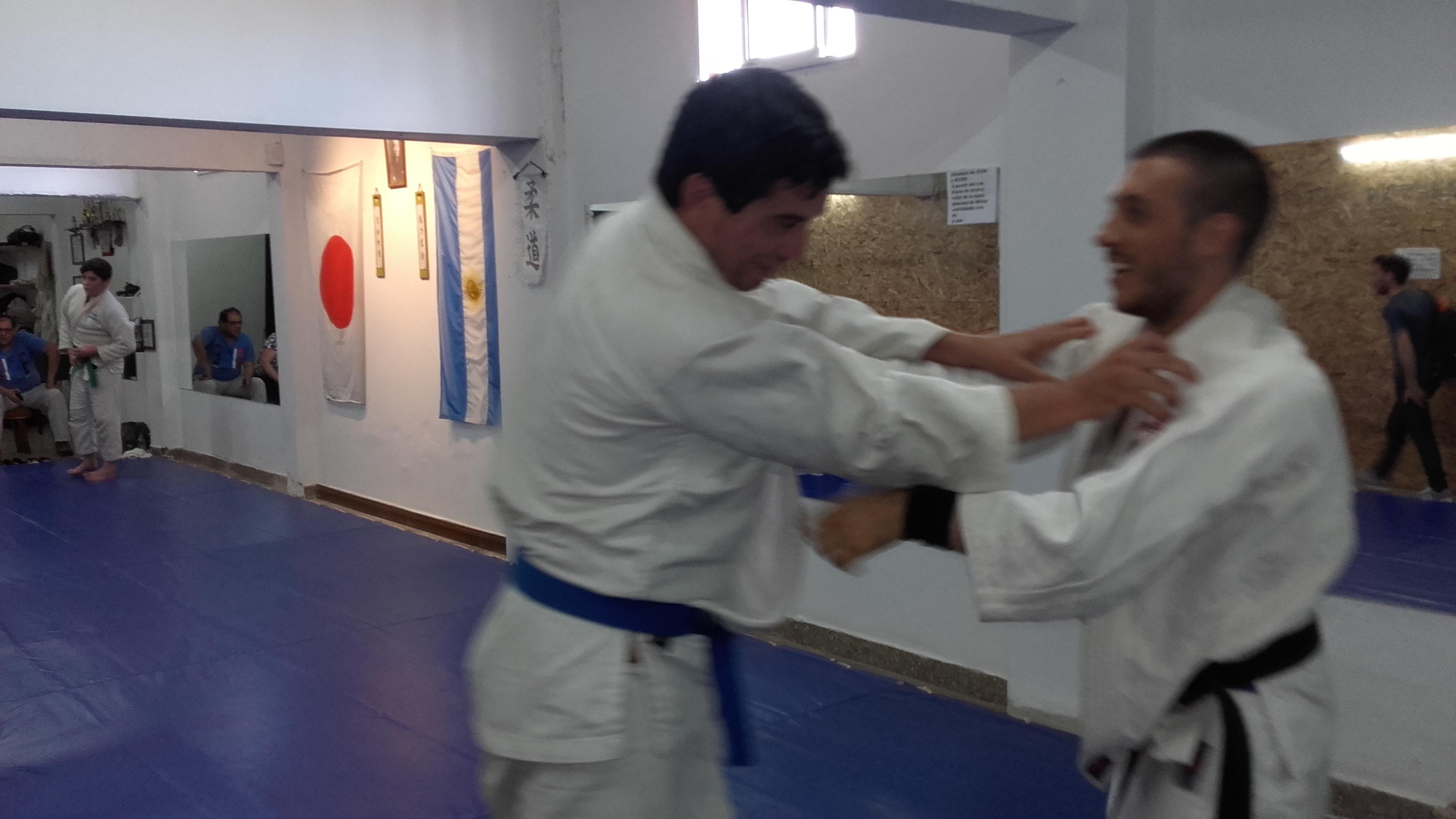 Sebastian Cabral  y Kevin Juri  a pleno entrenamiento