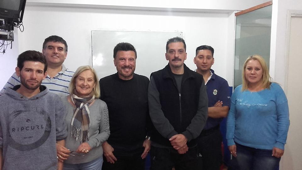 La Directora del Centro Panamericano de Capacitaciòn Liliana Jaime con el Maestro Jorge Juri y  los participantes del Curso   2018 de Jefes de seguridad .