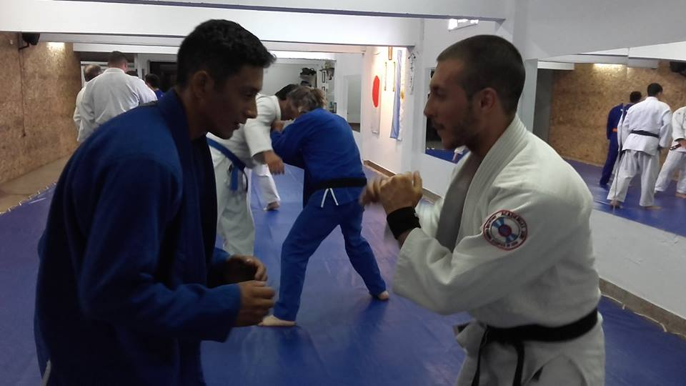 Jonatan Cejas  y Kevin Juri  a pleno entrenamiento